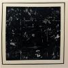 """Kasimir mag Schwarz."", 2014, Gips, Acryl und Öl auf Leinwand, 2 x 100 x 100cm"